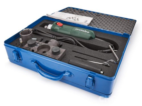 Entgratungsmaschine – Kantenfräsmaschine mit Metabo Fräsaggregat GE710 compact