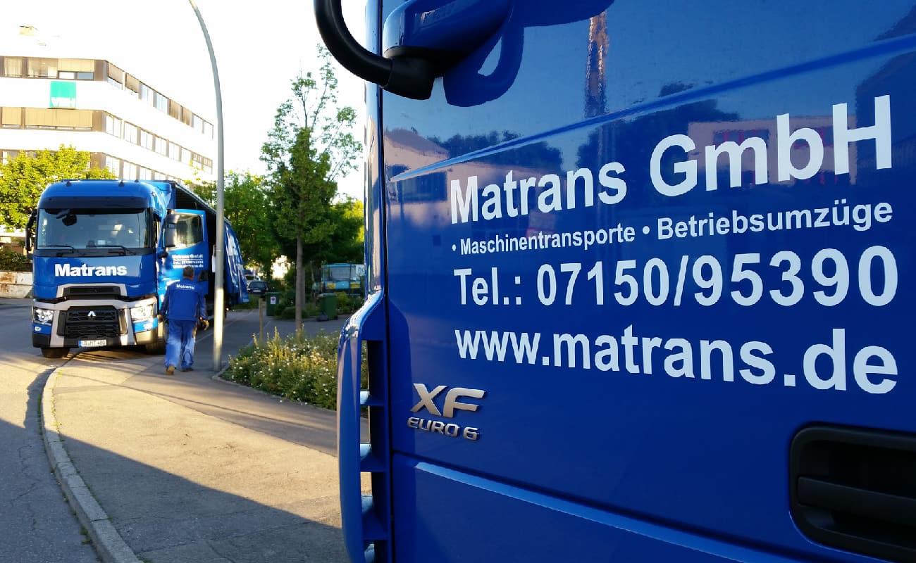 A Matrans é a nossa especialista no transporte de máquinas